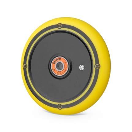 Колесо для самоката Hipe Flat Solid Logo 110 мм черное/желтое