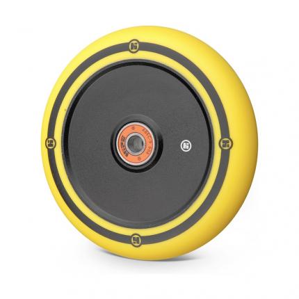 Колесо Hipe Flat Solid logo 120мм черный/желтый