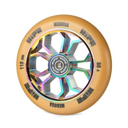 Колесо для самоката Hipe Medusa Wheel LMT36 110 мм коричневое/серебристое