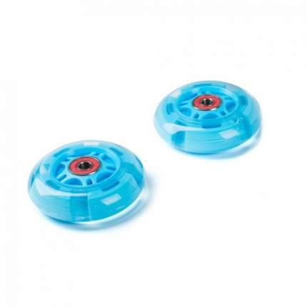 Светящиеся колеса задние 80 мм (2 шт.) голубые