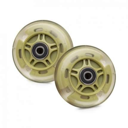 Светящиеся колеса задние 80 мм (2 шт.) зеленые(хаки)