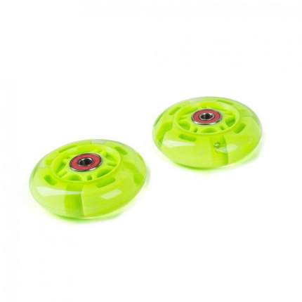 Светящиеся колеса задние 80 мм (2 шт.) зеленые
