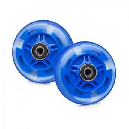 Светящиеся колеса задние 80 мм (2 шт.) темно-синие