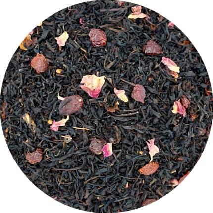 Черный чай с шиповником, 100 г