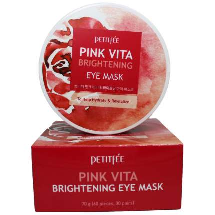 Патчи для глаз Petitfee Pink Vita Brightening Eye Mask 60 шт
