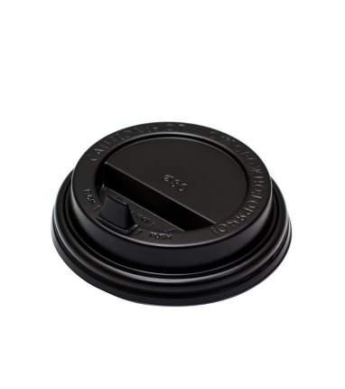 Крышки для одноразовых бумажных  стаканов Liga Pack,цвет черный,9см*100шт