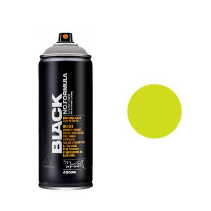 Аэрозольная краска Montana Black Acid 400 мл желтая зеленая