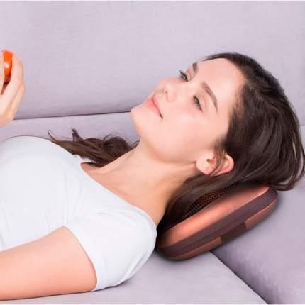 Массажная подушка с подогревом для шеи и спины Massage Pillow (8 роликов)