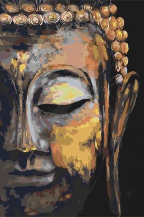 "Картина по номерам ""Будда"" Живопись по номерам PZ-2024"