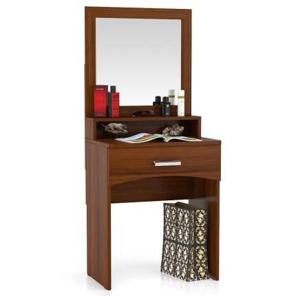 Столик туалетный с зеркалом Мебельный Двор МД орех 65х46х152 см.