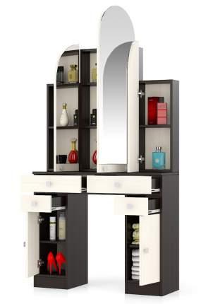 Туалетный столик Мебельный Двор №2 Трельяж венге/дуб 90х31х178 см.