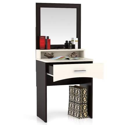 Столик туалетный с зеркалом Мебельный Двор МД венге/дуб 65х46х152 см.