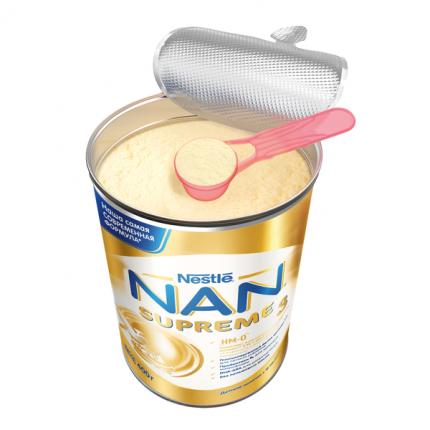 Детское молочко NAN 3 SUPREME с олигосахаридами для защиты от инфекций, 400г, с 12 мес