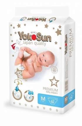 Подгузники YokoSun Premium M (5-10 кг) 62 шт