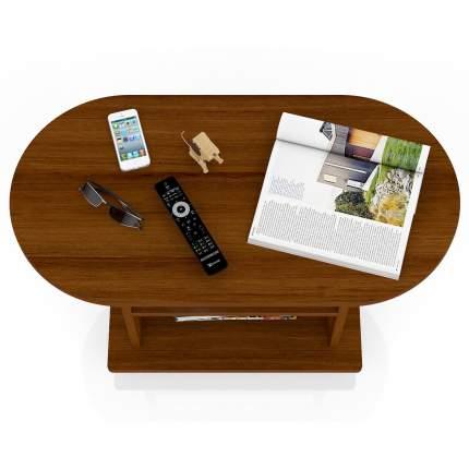 Журнальный столик Мебельный Двор МД-СЖ-1 82х42х52 см, орех