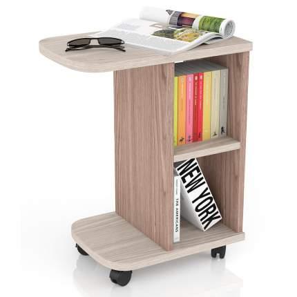 Журнальный столик Мебельный Двор МД-СЖ-3 47х30х60 см, ясень шимо светлый/тёмный