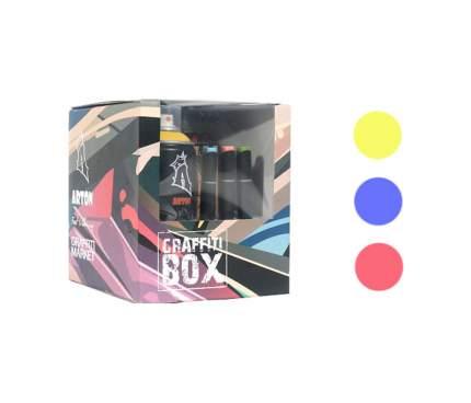 Набор красок аэрозольных Graffitimarket Graffiti Box желтая, синяя, красная
