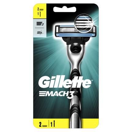 Мужская бритва Gillette Mach3 с 2 сменными кассетами