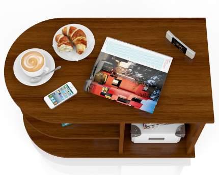 Журнальный столик Мебельный Двор МД-СЖ-4 80х45х55 см, орех