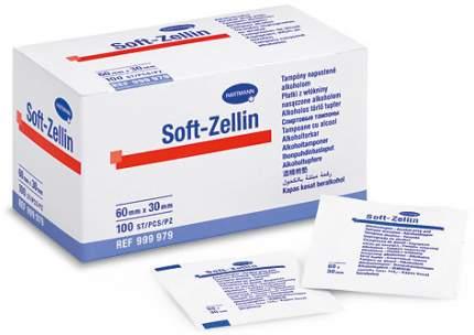 Спиртовые тампоны Soft-Zellin 60 х 30 мм 100 шт.