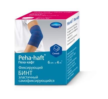 Самофиксирующийся бинт Peha-Haft 4 м х 6 см синий
