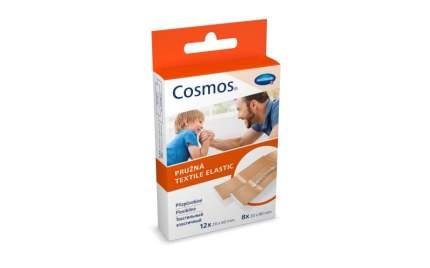 Пластырь Cosmos textil elastic эластичный бежевый 2 размера 20 шт.