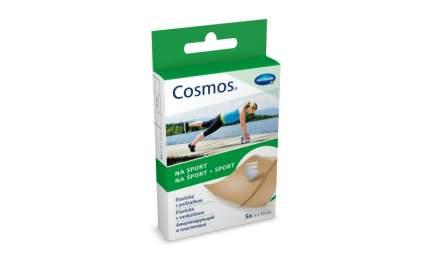 Пластырь Cosmos sport эластичный из полиуретановой пленки 6 х 10 см 5 шт.