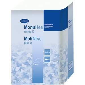 Впитывающие пеленки MoliNea plus D 60 х 60 см 5 шт.