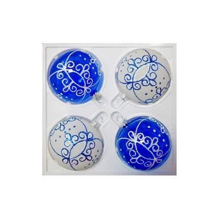 Набор шаров на ель Елочка Диадема С 1393 7,5 см 4 шт.