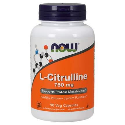 L-Citrulline NOW Sports, 90 капсул