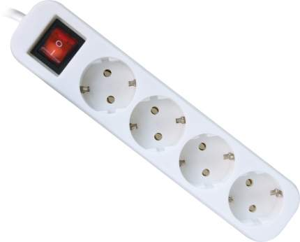 Сетевой фильтр Defender S450, 4 розетки, 5 м, White