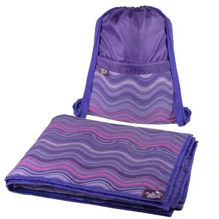 Коврик для пикника OnlyCute Волны радуги MAK7101RM с рюкзаком