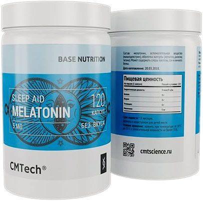 Добавка для сна CMTech Melatonin 5 mg 120 капс. натуральный
