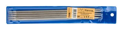 Вязание Спицы 5-ти компл, MK5 металл d 4,5 мм 20 см MK5 4,5, от Gamma