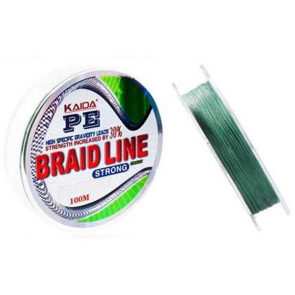 Шнур плетеный Braid Line Strong, 0,2 мм, 100 м, 12,3 кг
