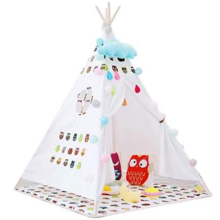 Вигвам детский с ковриком Nuobi, owls