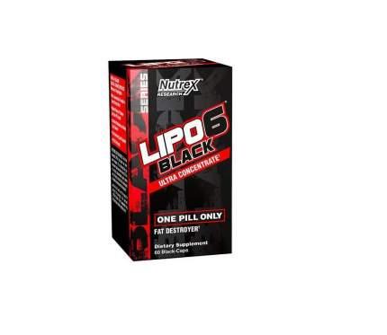 Жиросжигатель Nutrex Lipo 6 Black Ultra Concentrate, 60 капсул