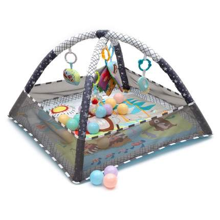 Развивающий коврик для новорожденного с игрушками NUОВI В-FКID-G (Серый)