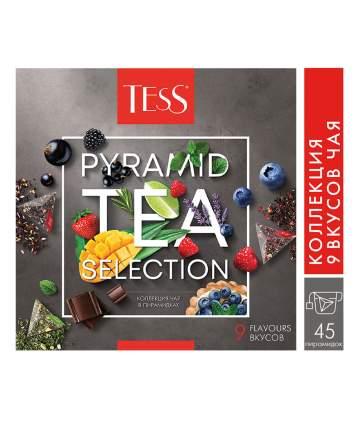 Подарочный набор Tess 9 видов чая и чайных напитков в пирамидках 45 пакетиков