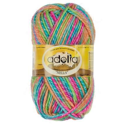 Пряжа Adelia Nelly 5 шт. в упак. цвет голубой-малиновый-оранжевый-салатовый Nelly-07 100 м