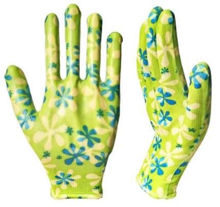 Садовые перчатки Русский огород 10800 Зеленая ромашка размер ХL