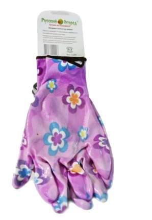 Садовые перчатки Русский огород 11200 Розовая ромашка размер XL