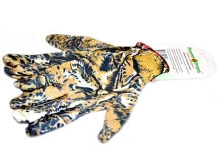 Садовые перчатки Русский огород 12000 Леопардовые размер XL