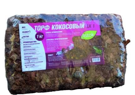 Торф кокосовый 1кг в брикетах для орхидей LISTOK