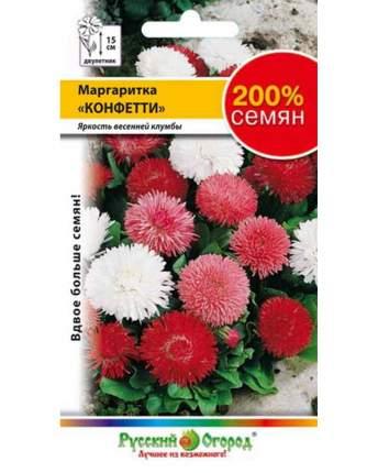 Семена цветов Русский огород 713170 Маргаритка Конфетти 0,1 г