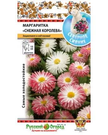 Семена цветов Русский огород 743176 Маргаритка Снежная Королева смесь 300 шт.