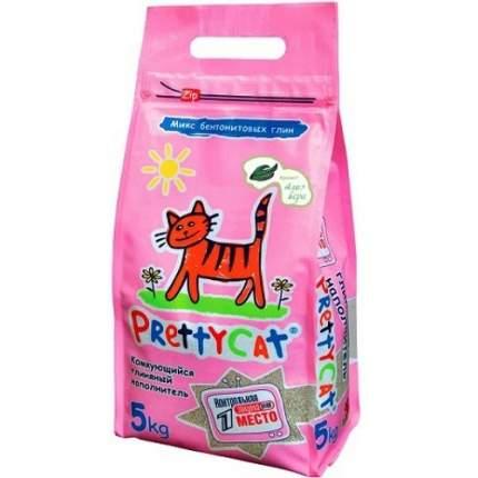Комкующийся наполнитель для кошек PrettyCat Euro Mix бентонитовый, алоэ, 5 кг, 20 л