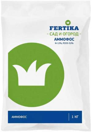 Минеральное удобрение азотное, фосфорное Fertika Аммофос Bi-fertika0062 1 кг