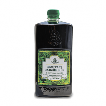 Экстракт Хвойный натуральный для ванн с эфирным маслом пихты 1 л