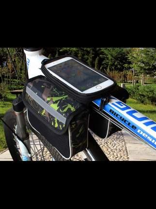 Велосипедная сумка MoscowCycling MC-BAG-05 зеленая